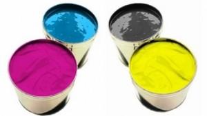 imprimerie de la tour dauphinoise boites d'encre pour impression avec presse offset cyan magenta jaune noir couleur quadrichromie