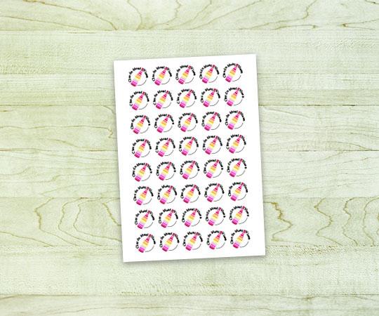 Adhésif imprimerie tour dauphinoise papier autocollant blanc avec logo personnalisé