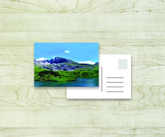 carte postale imprimerie tour dauphinoise papier blanc personnalisable