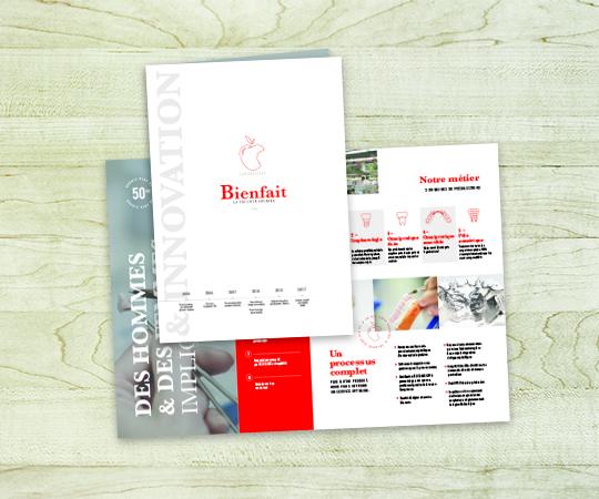 dépliant imprimerie tour dauphinoise papier 170 grammes blanc personnalisé