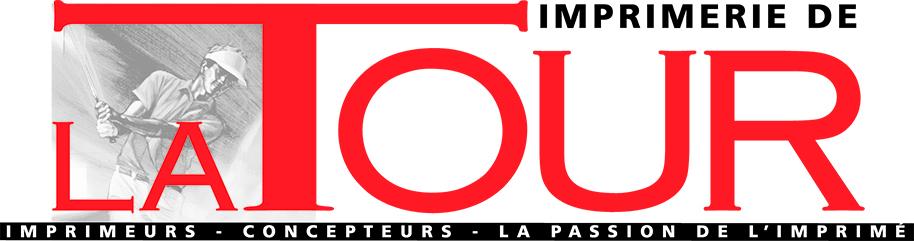 imprimerie de la tour logo golfeur imprimeur rouge noir