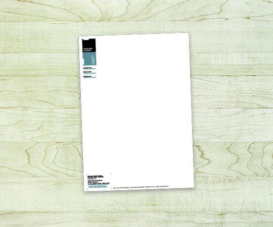tête de lettre imprimerie tour dauphinoise papier 80 grammes blanc avec logo personnalisation en tete