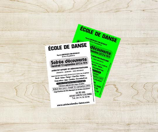 tract imprimerie tour dauphinoise papier 80 grammes blanc ou papier fluo impression en noir